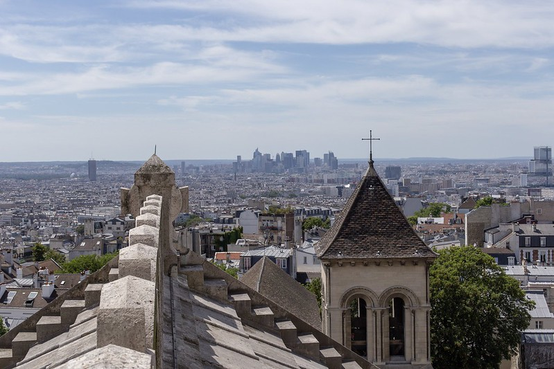 Blick von der Basilika Sacré-Cœur auf Paris.