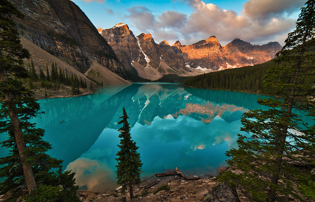 How To Park >> Moraine Lake, August sunrise alpenglow   Banff National Park…   Flickr