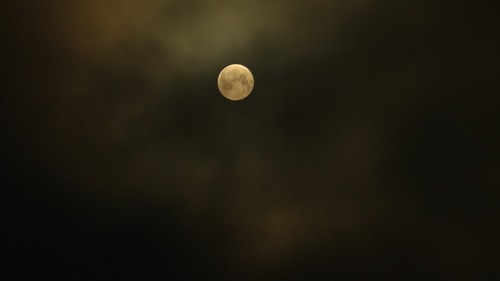 Moon eclipse cloudy night | by Blackpeppereye