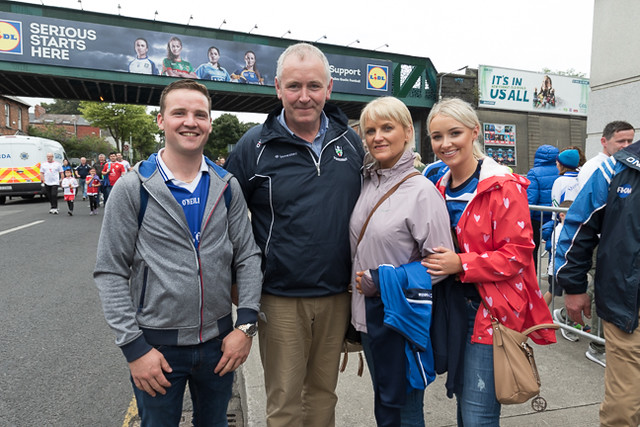 Monaghan Supporters in Croke Park for the All Ireland Semi Finals 2018