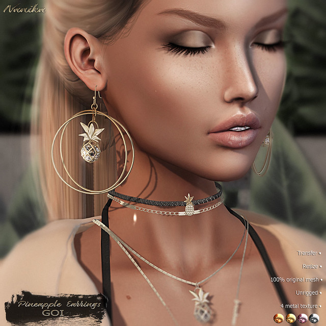 .::Nanika::. Pineapple Earrings (EXCLUSIVE) The Gacha Garden