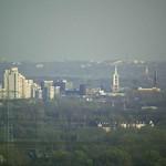 Blick auf die Gelsenkirchener Innenstadt vom Tetraeder aus - Entfernung circa neun Kilometer