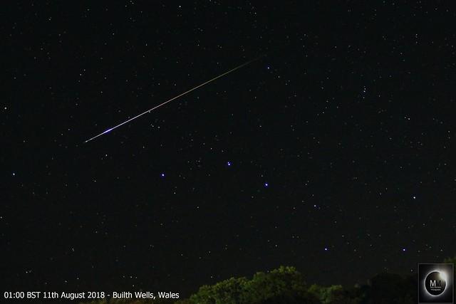 Perseid Meteor 01:00 BST 11/08/18