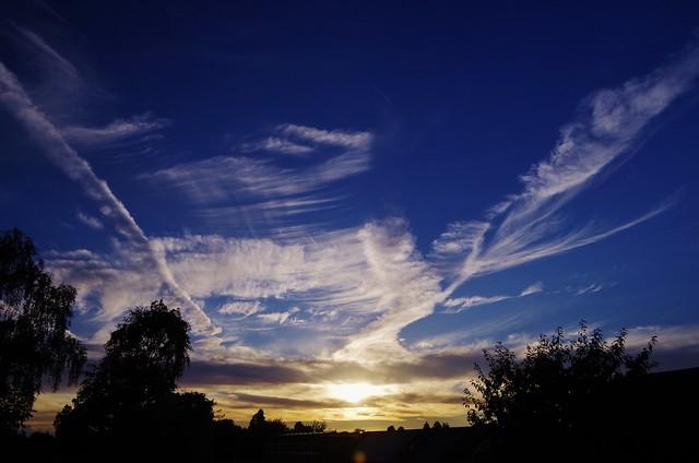 Converging clouds