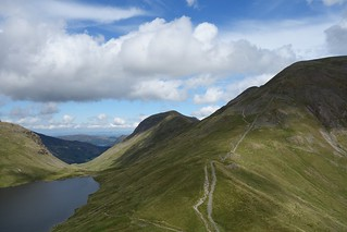 Grisedale Tarn, St Sunday Crag and the path up Fairfield | by martinkhawer