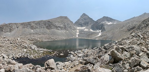 0700 Junction Peak (center) with Forester Pass (right) beyond the highest lake in the Bubbs Creek drainage | by _JFR_