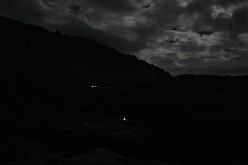 1267 I was woken up by hikers yakking loudly at 2am - here are some headlamps climbing toward Trail Crest | by _JFR_