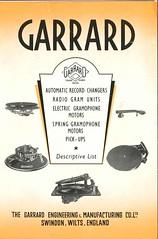 Garrard Descriptive List 1940's 1