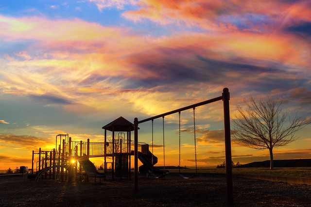 Playground Sunset