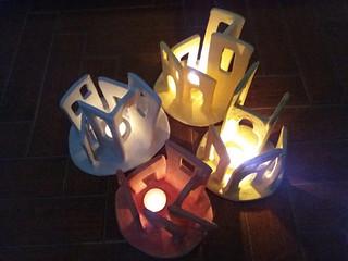 Borgo ligure ceramica notte   by Terra Accesa