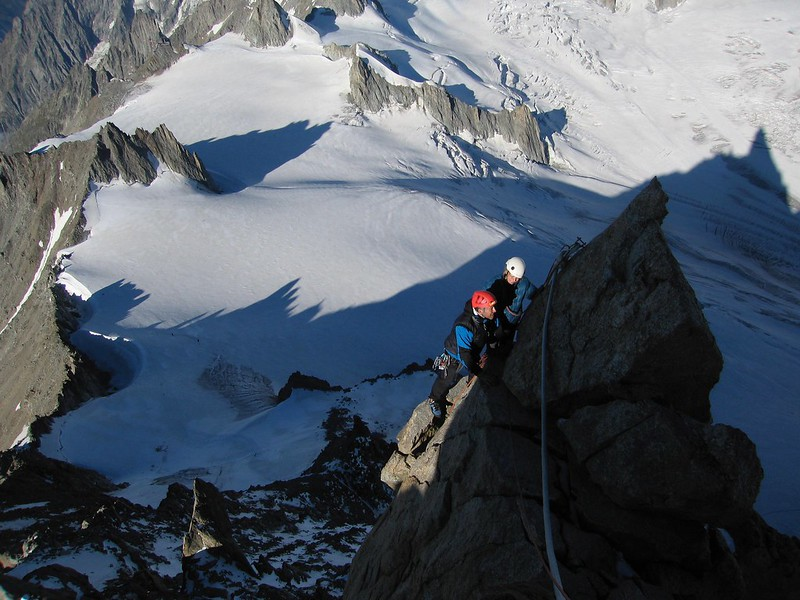 Near the summit of the Dent du Géant, Chamonix, France
