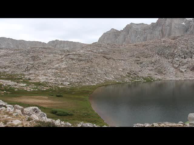 1222 Panorama video showing Guitar Lake on the John Muir Trail