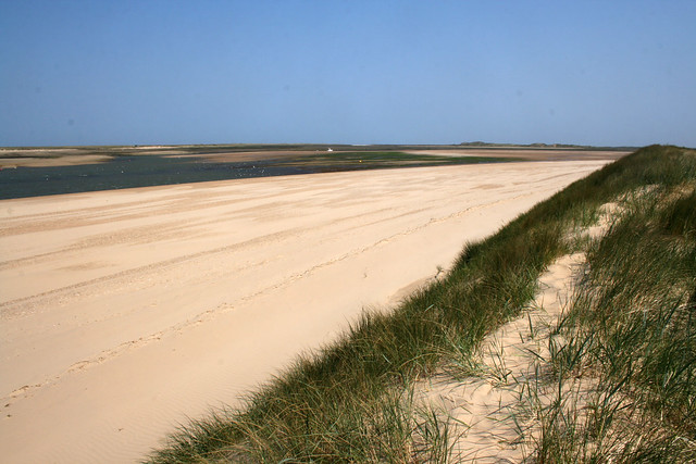 The beach east of Brancaster