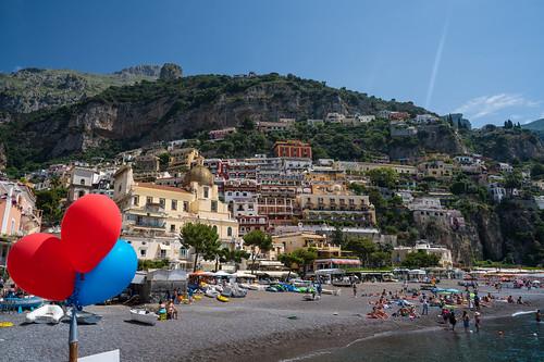 Balloons at Positano Beach | by nan palmero