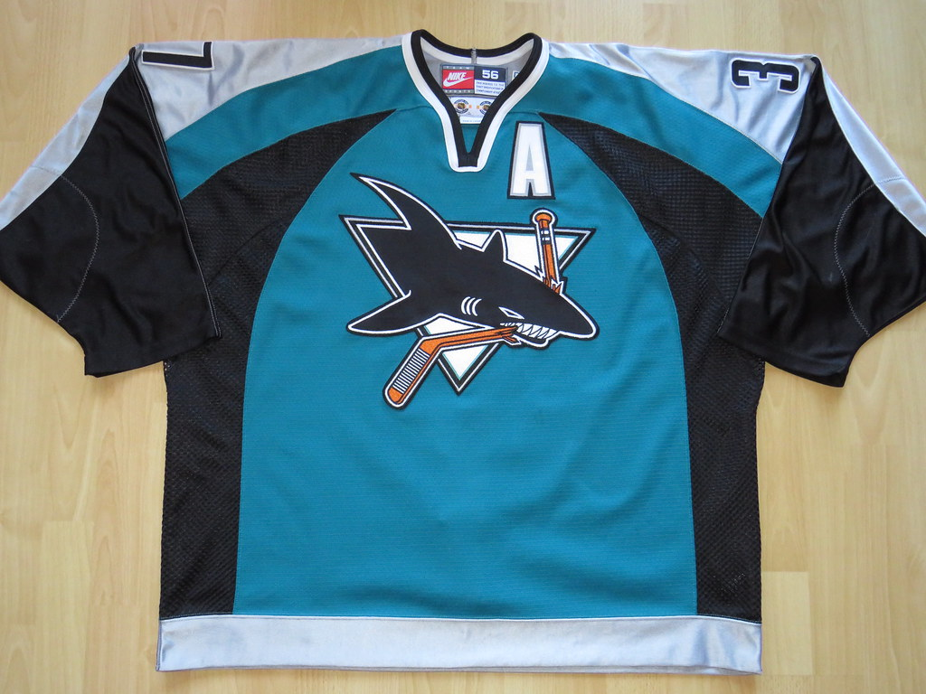 info for b20b3 3f5d4 San Jose Sharks 1998 - 1999 Game Worn Jersey | R. D. aka ...