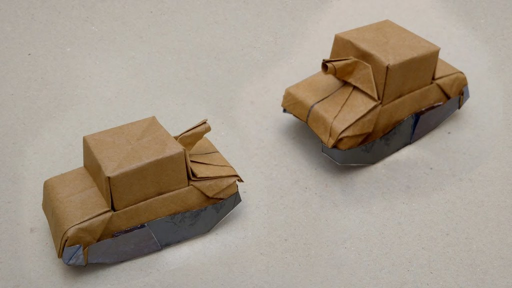 how to make a tank out of paper with their hands origami tank ... | 576x1024