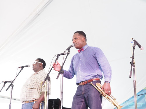 Mahogany Brass Band at Satchmo SummerFest - Saturday, August 4, 2018. Photo by Michele Goldfarb.