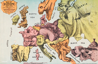 War Map of Europe: As seen through French eyes by Paul Hadol. Original from Library of Congress. Digitally enhanced by rawpixel.