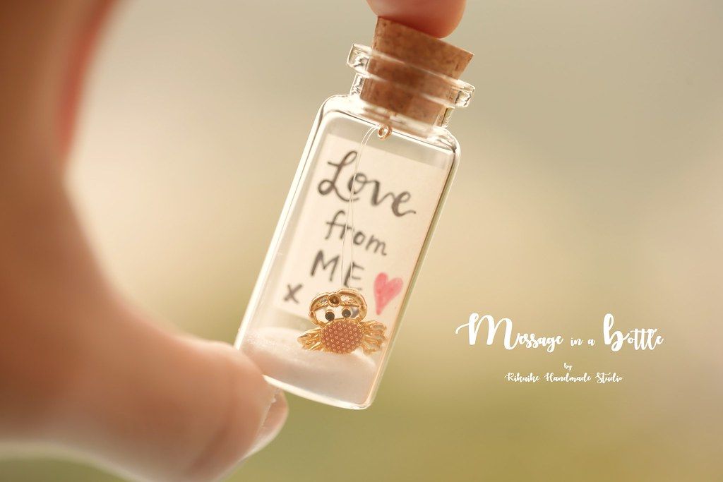 LOVE from me, Tiny message in a bottle,Miniature,Personali… | Flickr