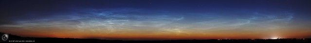 Pre-dawn Noctilucent Cloud Panorama 22/06/18