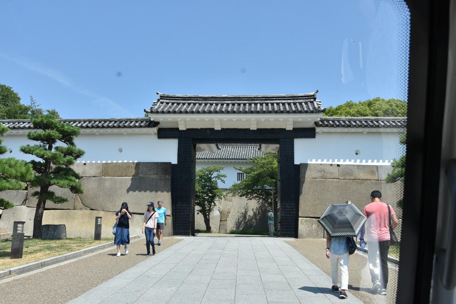 Osaka - accès au chateau