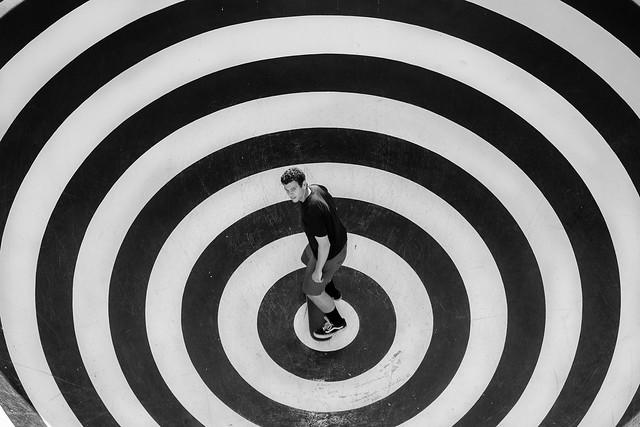 Skating the target