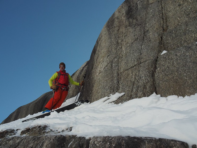 The Rock Gardem of the Grands Montets. Well named! Skier: Jim Savege