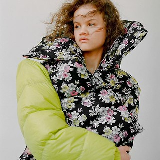 Aw18 floral puffer | by It9anef