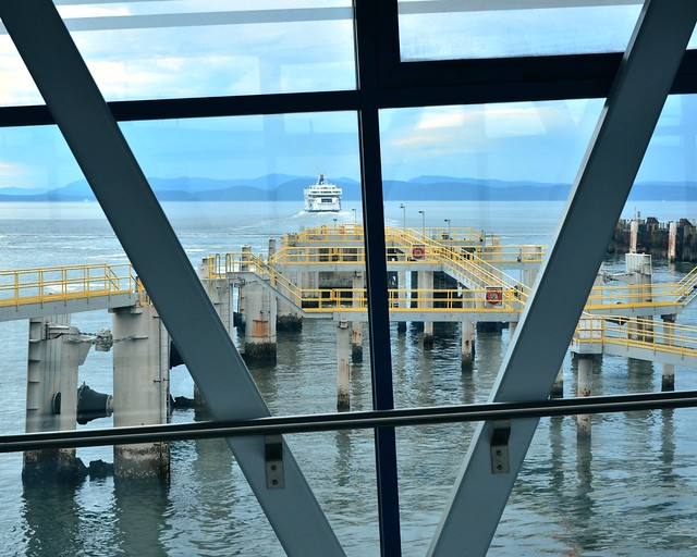 berth of a ferry . . .