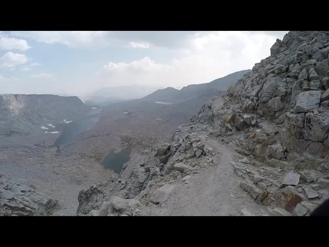 0789 GoPro panorama video looking south from Forester Pass on the John Muir Trail