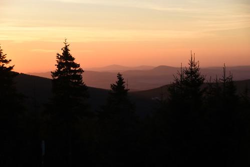 sunrise sudetes morning jelenka