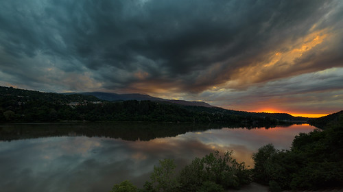 nikon d750 nikond750 irix 15mm irix15mm landscape bulgaria pancharevo clouds sunset water trees mountain blue sky sun