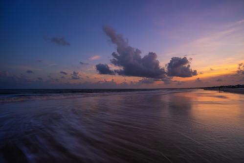 "blue sonyalphaa9ilce9 zeissbatis18mmf28 reallyrightstuff ""tvc33"" portstjoe florida sunset ocean waves travisrhoadsphotography clouds"