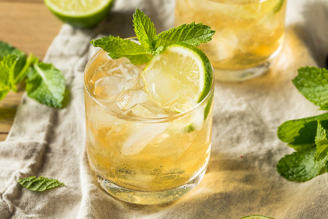 Homemade Moscow Mule with Ginger and Lime