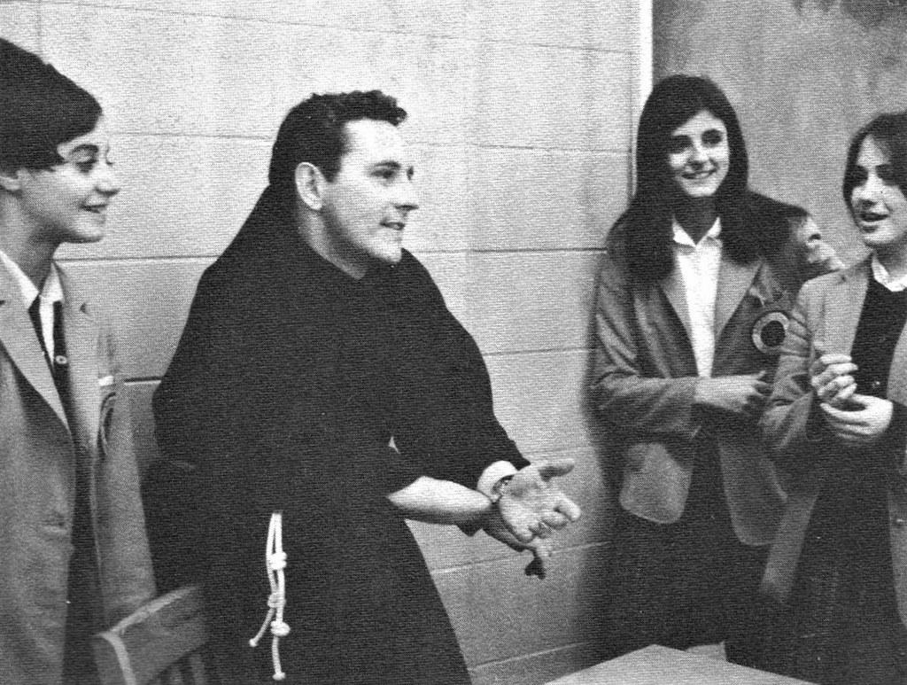 Franciscan Monk Father Joseph Flynn, OFM Cap in the classr