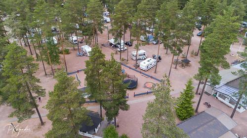 camping kokemäki drone pitkäjärvi dji motorhome caravan satakunta finland fi