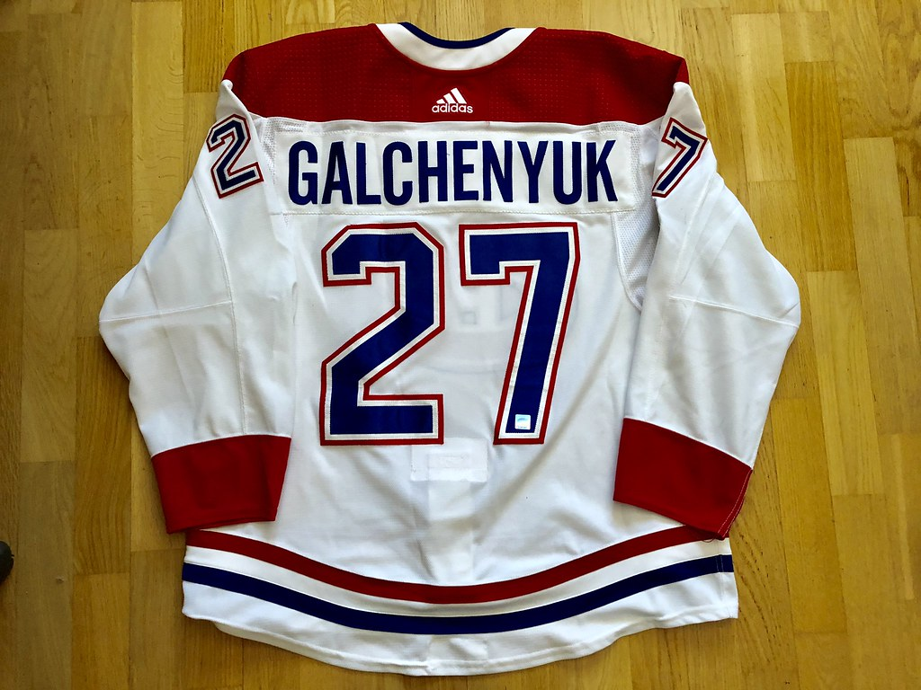 on sale 879cd 36ab5 ALEX GALCHENYUK GAME WORN JERSEY 2017 - 2018 MONTREAL CANA ...