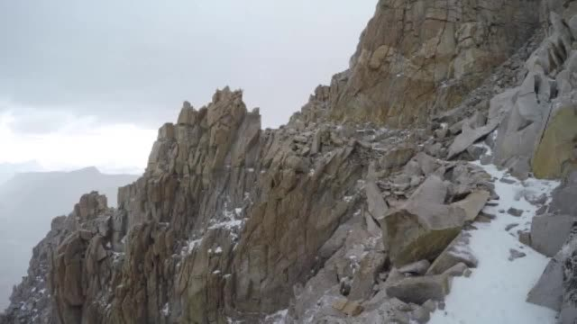 1696 Long GoPro video as I hike down from Mount Whitney in a hailstorm on the John Muir Trail