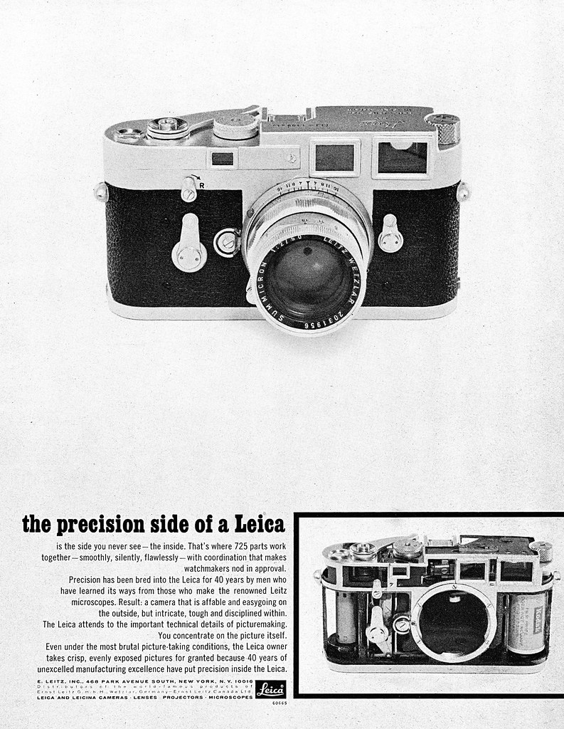 "Leica rangefinder cameras advertisement  | 1965/December, ""M… 