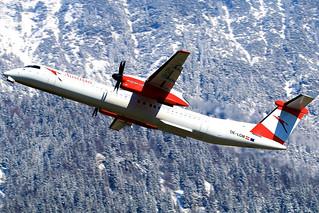 Austrian Airlines, Bombardier DHC-8-402 Q400, OE-LGM, 22.03.2018, INN   by Thomas Winklhofer