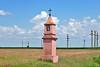 Das rote Kreuz am Nordrand der Gemeinde Gertianosch