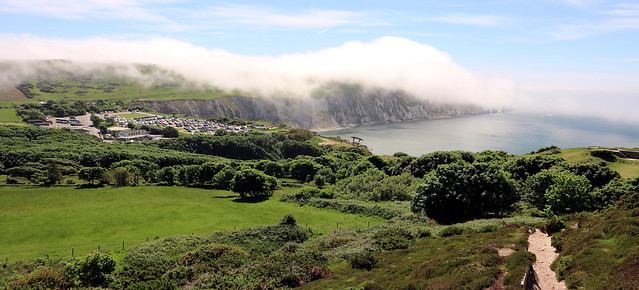 Fog covering the Isle of Wight