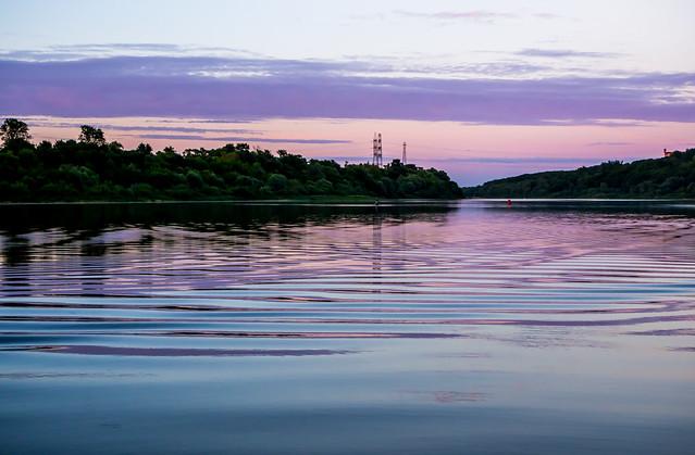 lilac-blue twilight