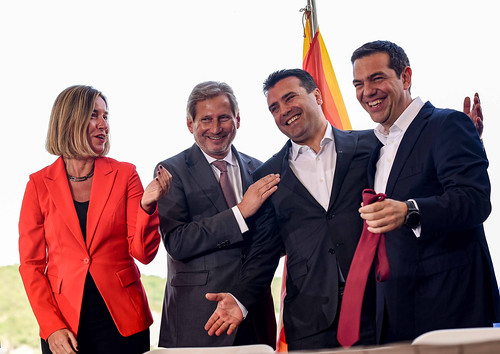 Visit of Federica Mogherini, Vice-President of the EC, and Johannes Hahn, Member of the EC, to Greece and to the former Yugoslav Republic of Macedonia, June 2018   by European External Action Service - EEAS