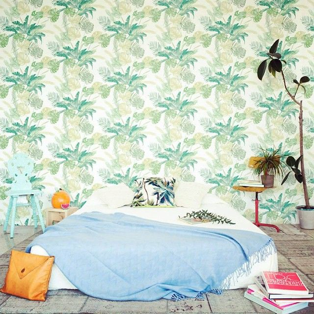 Modern Interiors Design : laracostafreda tropical tapestry illustration via ad germany.jpg