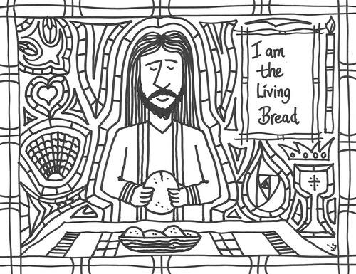 Living Bread coloring page