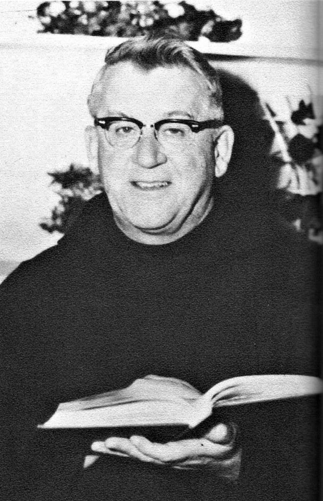 Father Gereon Lindsay, OFM Cap teaching Latin at Sacred He