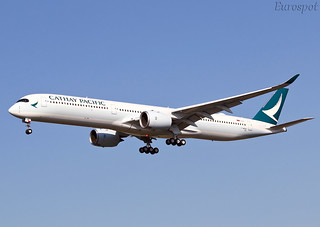 F-WZGM Airbus A350 Cathay Pacific | by @Eurospot