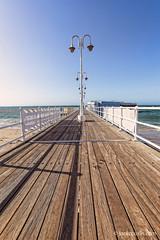 Pier at St Helier beach, Jersey.
