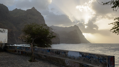 sea sunset landscape capeverde sunyrays